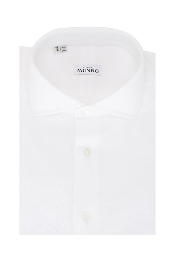 Atelier Munro White Piqué Sport Shirt