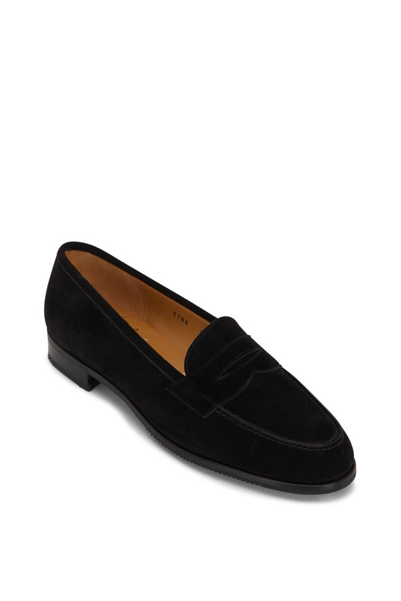 Gravati Black Suede Penny Loafer