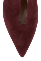 Gianvito Rossi - Vania Burgundy Suede V-Neck Ankle Boot, 55mm
