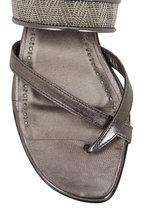 Manolo Blahnik - Solidus Anthracite Flat Thong Sandal