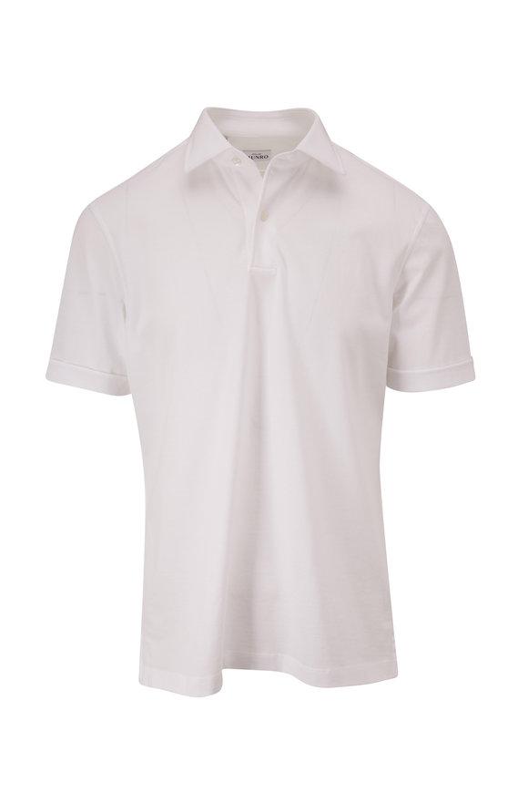 Atelier Munro White Piqué Short Sleeve Polo