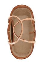 Saint Laurent - Natural Canvas & Brown Leather Medium Tote