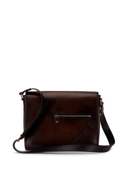 Berluti - Everyday Black Ice Leather Messenger Bag
