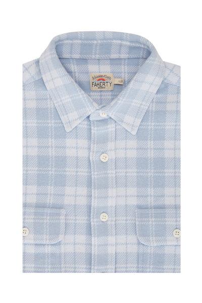 Faherty Brand - Legend Steel Blue Check Sweater Shirt