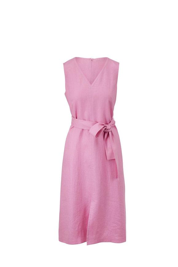 Lafayette 148 New York Lily Dahlia Linen Sleeveless Dress