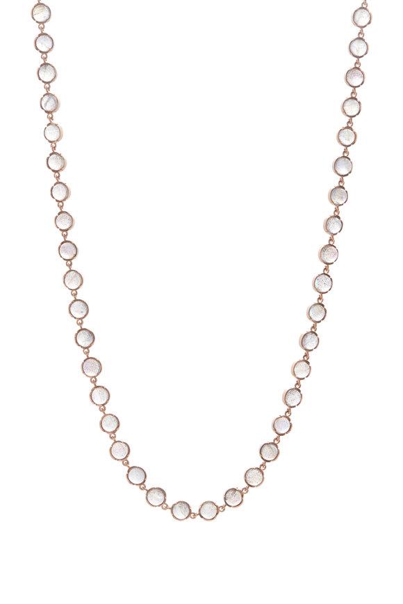 Irene Neuwirth Rose Gold Labradorite Stone Chain Necklace
