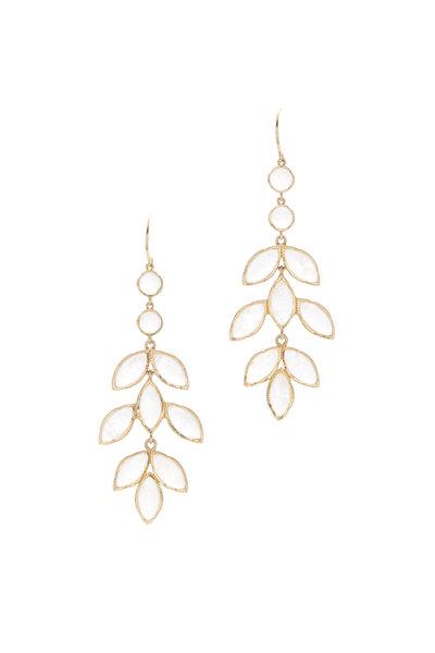 Irene Neuwirth - 18K Yellow Gold Moonstone Chandelier Drop Earrings