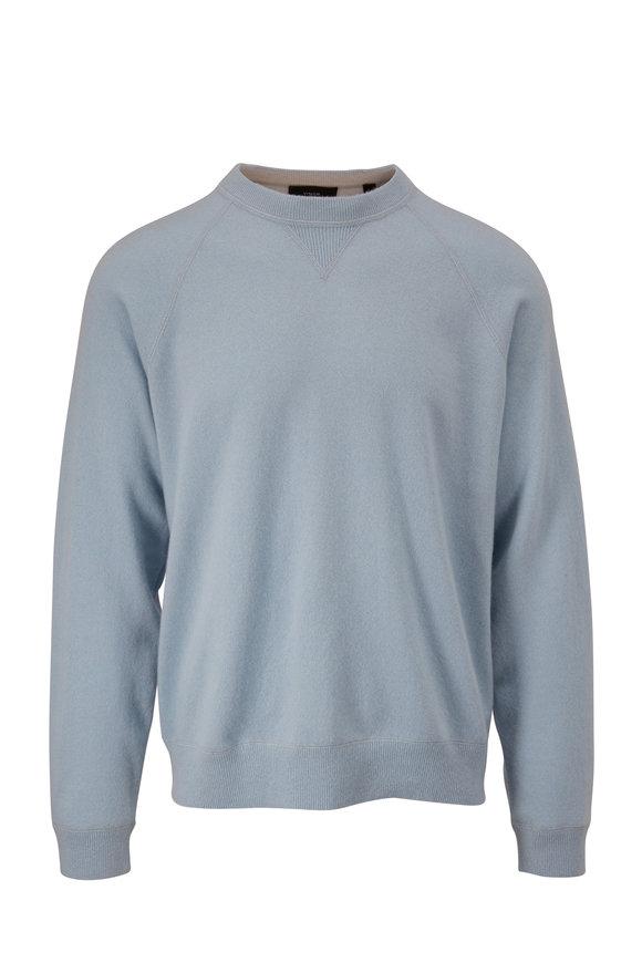 Vince Light Blue Cashmere Raglan Sleeve Pullover