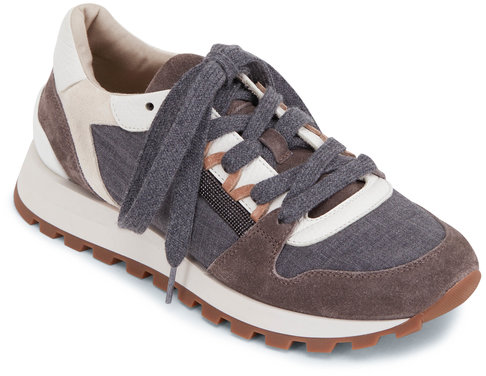 Brunello Cucinelli Medium Gray Wool Monili Runner