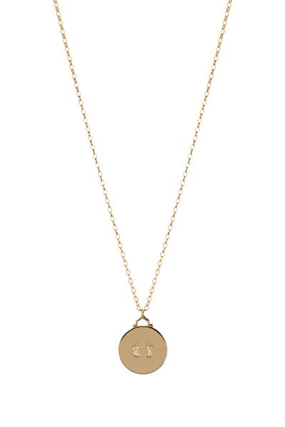 Monica Rich Kosann - Yellow Gold Baby Birthday Diamond Charm Necklace