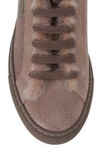 Brunello Cucinelli - Elefante Leather Shearling Sneaker