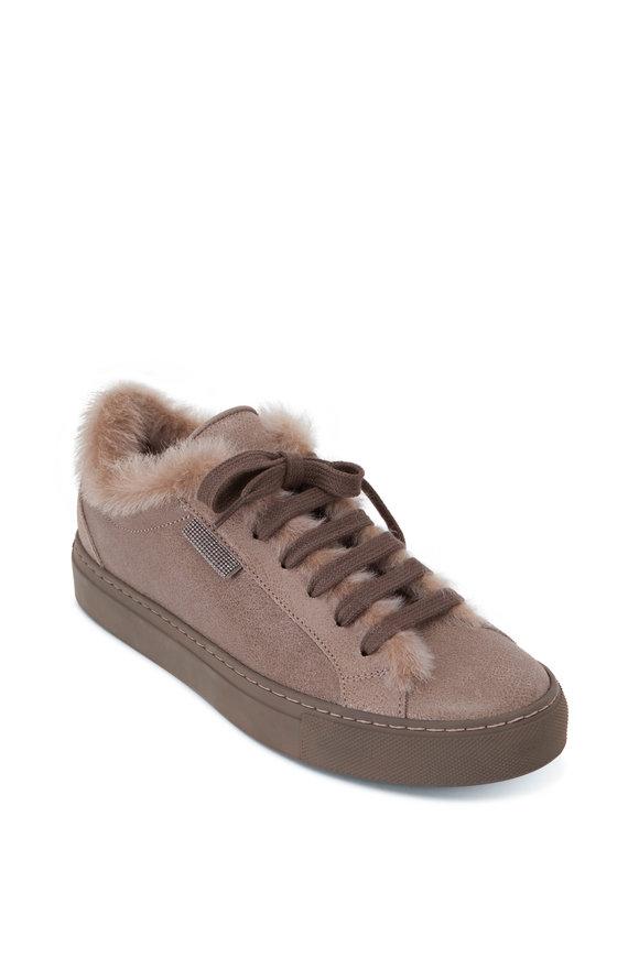 Elefante Leather Shearling Sneaker