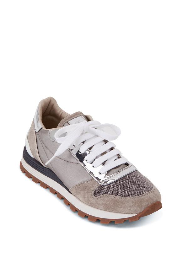 Silver Metallic Monili Toe Sneaker
