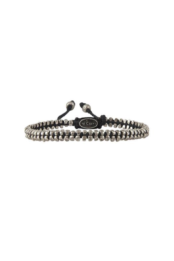M. Cohen Silver & Black Stamped Bead Bracelet