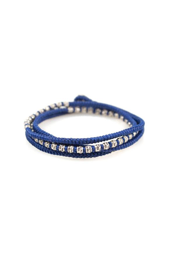 M. Cohen Silver & Blue Knotted Wrap Bracelet