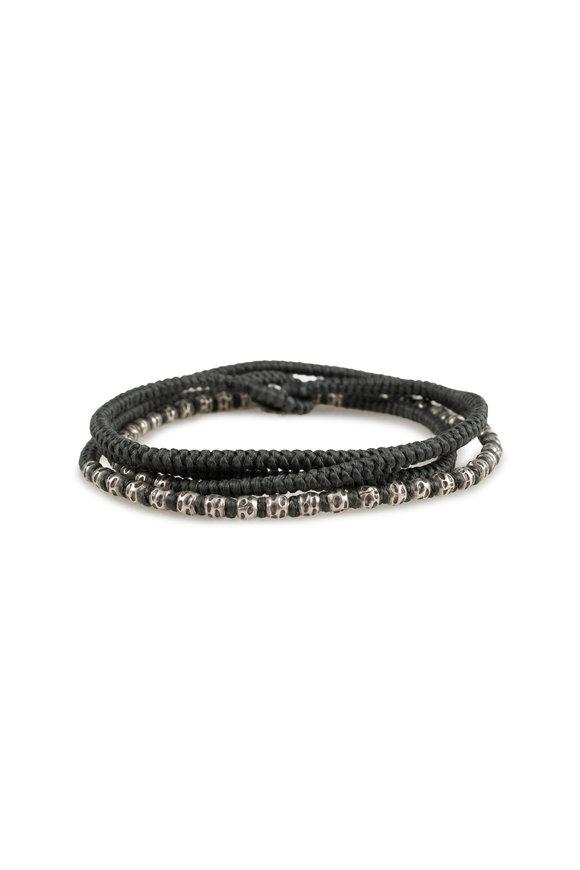 M. Cohen Charcoal Knotted Wrap Bracelet