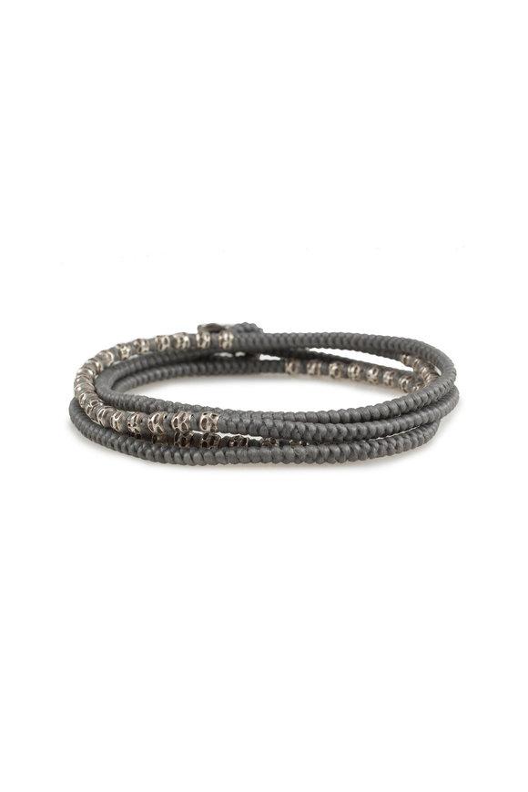 M. Cohen Silver & Gray Knotted Wrap Bracelet