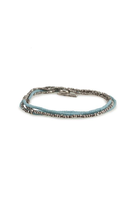 M. Cohen Silver Mini Bead & Silver Horizon Bracelet