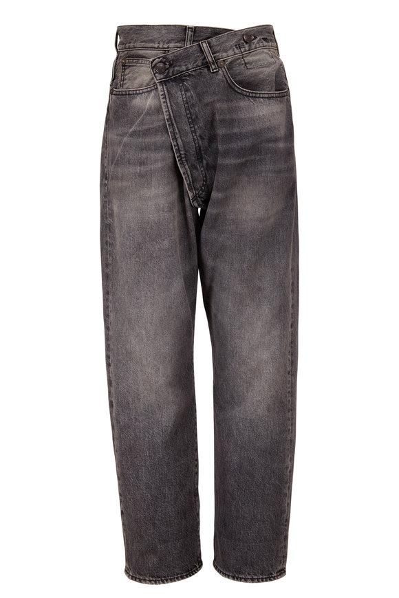 R13 Crossover Leyton Black Five Pocket Jean