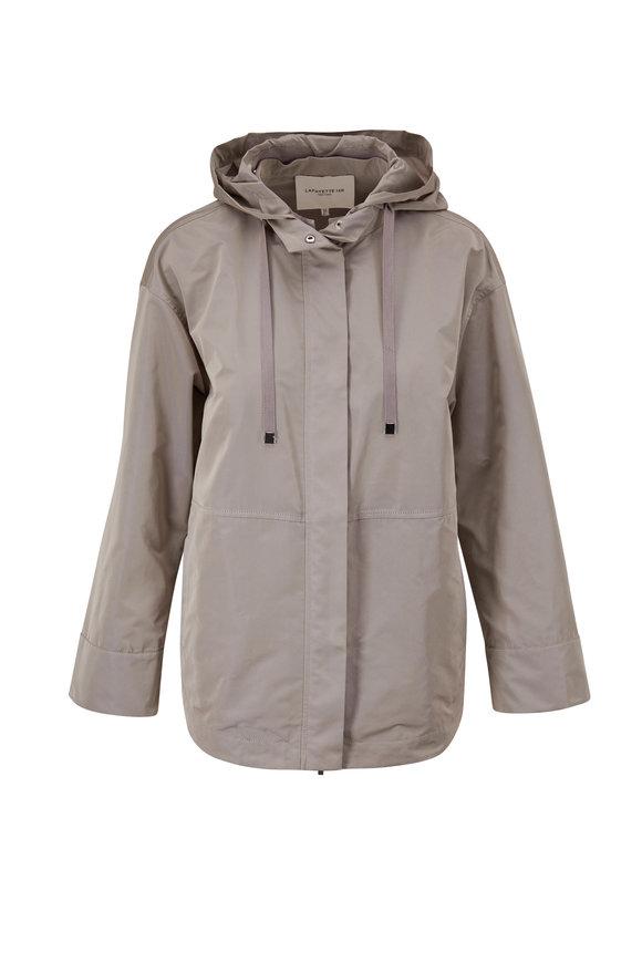 Lafayette 148 New York Ansel Driftwood Hooded Jacket