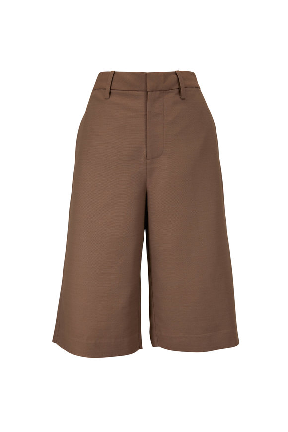 CO Collection Taupe Knee Length Shorts