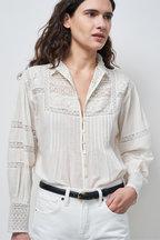 Nili Lotan - Harriet Ivory Embroidered Shirt