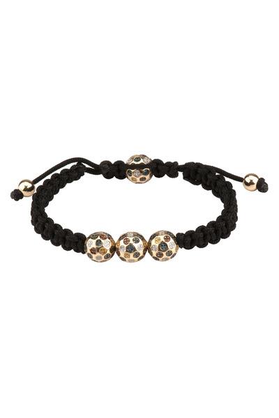 Loren Jewels - Macrame Bracelet With Multicolored Diamonds