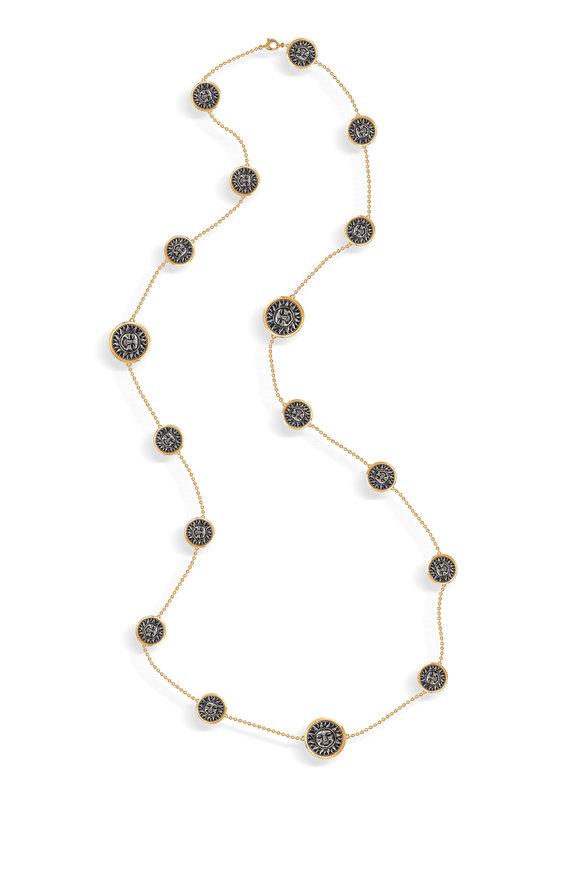 Marina B Yellow Gold Soleil Sautoir Coin Necklace