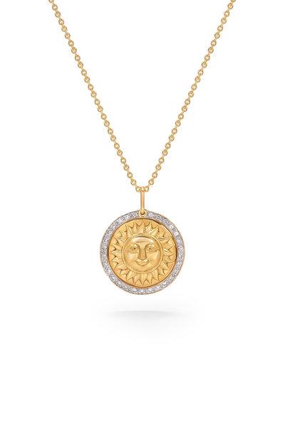 Marina B - Yellow Gold Soleil Pendant Necklace
