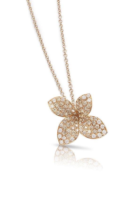 Pasquale Bruni Rose Gold Giardini Segreti Flower Necklace