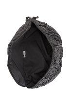 Brunello Cucinelli - Charcoal Gray Crochet Cashmere Belt Bag