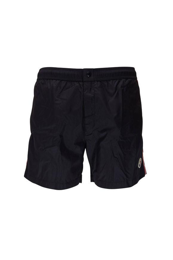 Moncler Navy Side Stripe Swim Trunks