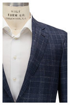 Canali - Kei Navy & White Plaid Sportcoat