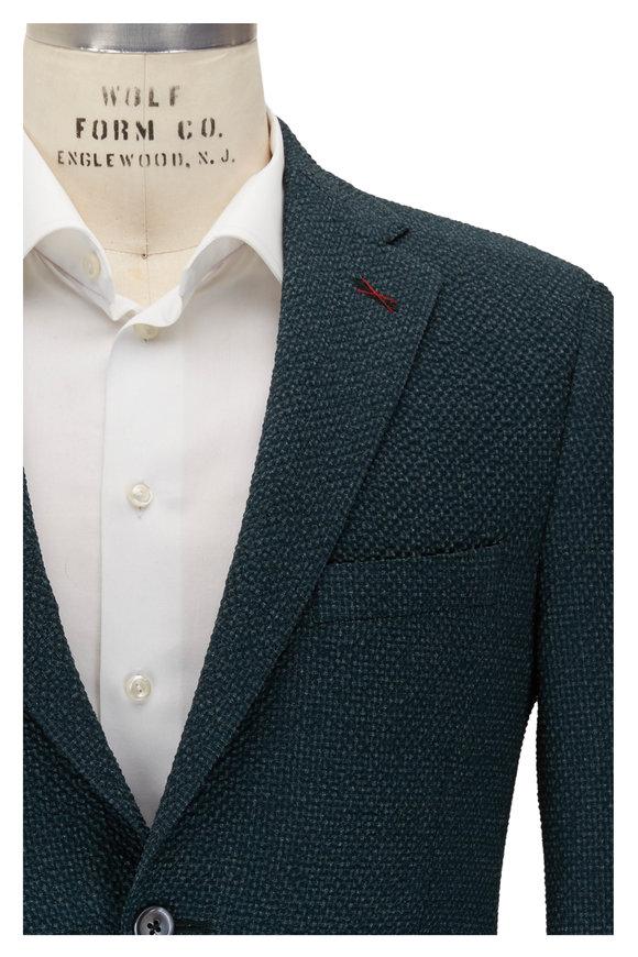Samuelsohn Olive Green Seersucker Sportcoat