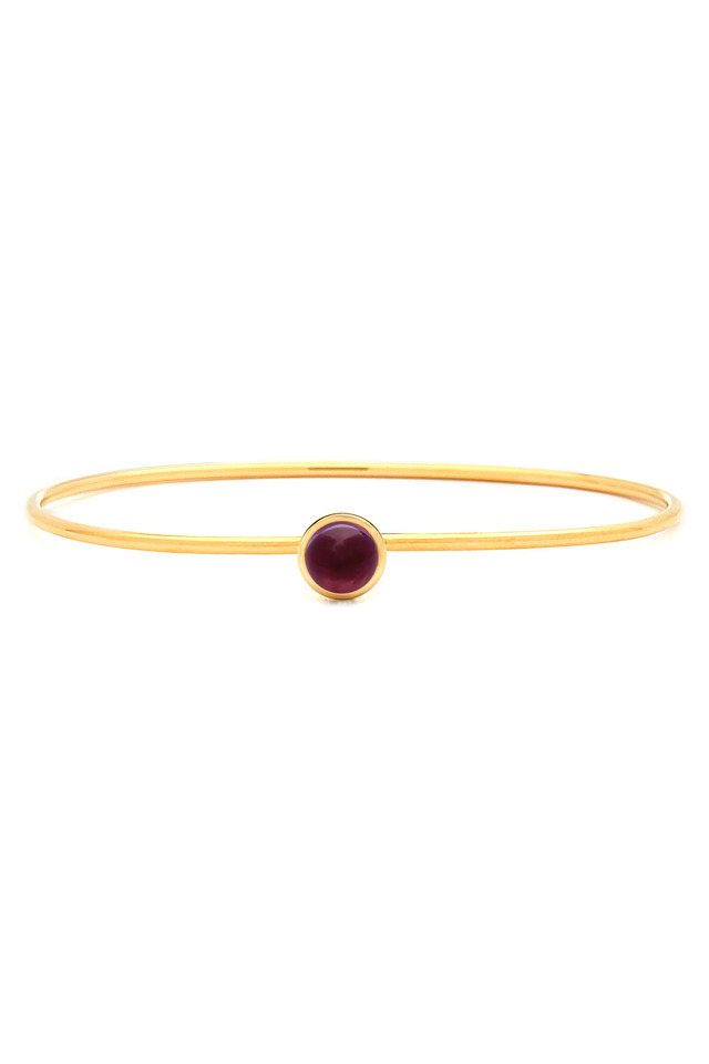 Small Rubellite Gold Baubles Bracelet