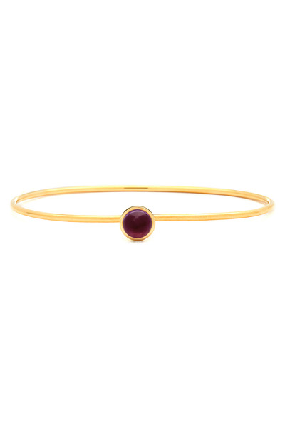 Syna - Small Rubellite Gold Baubles Bracelet