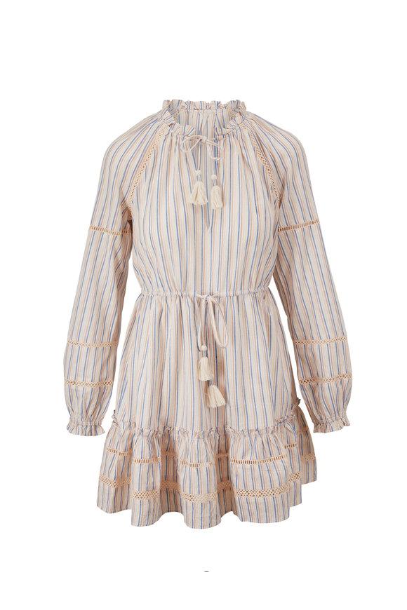Veronica Beard Danica White Stripe Tunic Dress