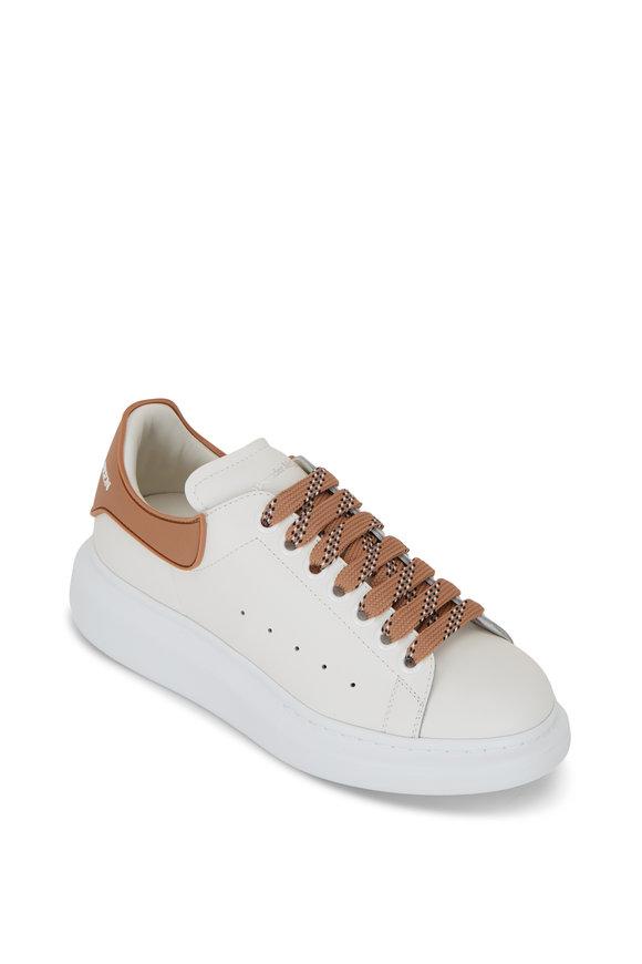 Alexander McQueen White & Copper Rubber Exaggerated Sole Sneaker