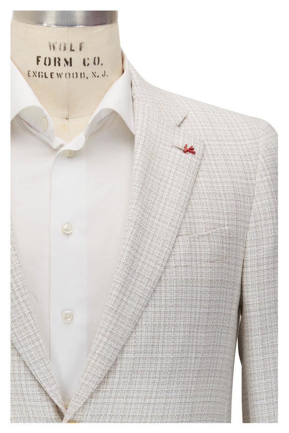 Isaia White & Beige Textured Sportcoat