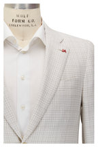 Isaia - White & Beige Textured Sportcoat
