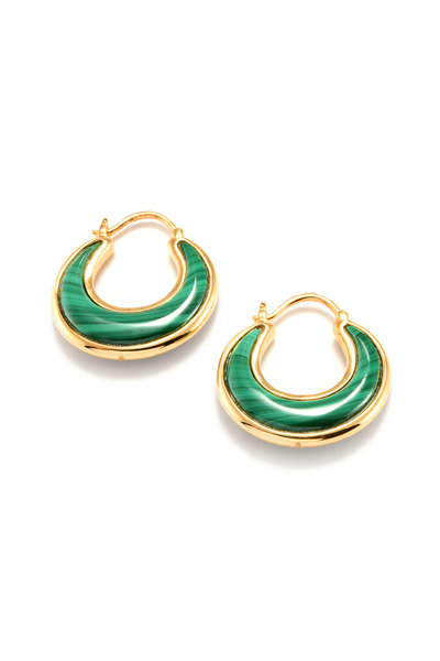 Syna - Green Malachite Luna Earrings