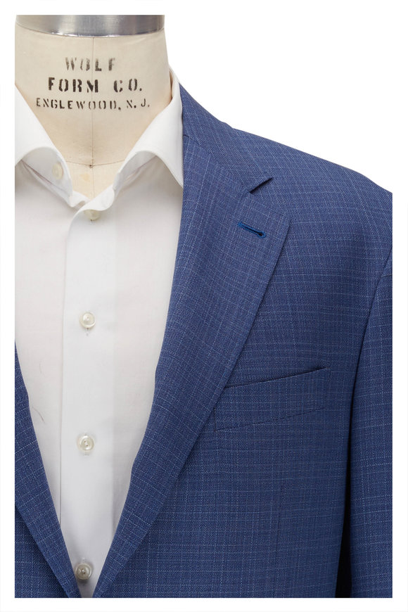 Canali Kei Blue Textured Wool Suit