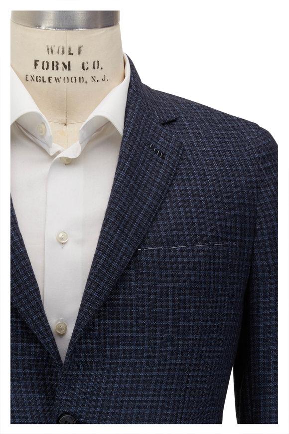 Brioni Midnight Check Cashmere Sportcoat