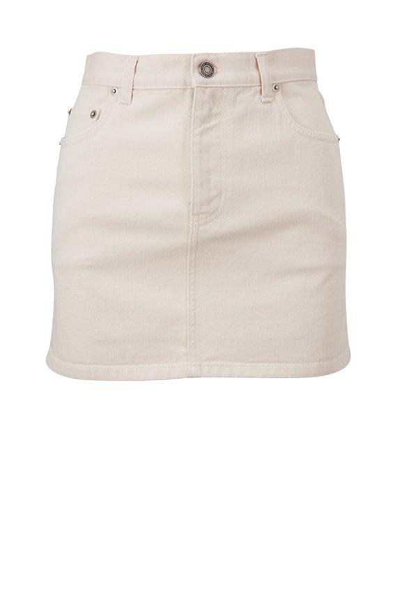 Saint Laurent Ecru Denim Mini Skirt
