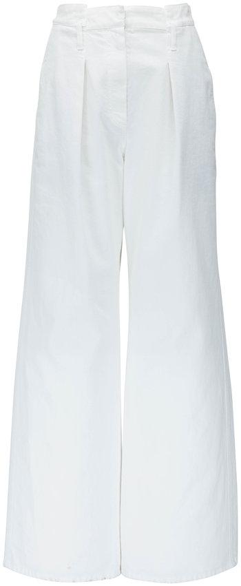 Brunello Cucinelli Natural Garment Dyed Soft Pleat Pant