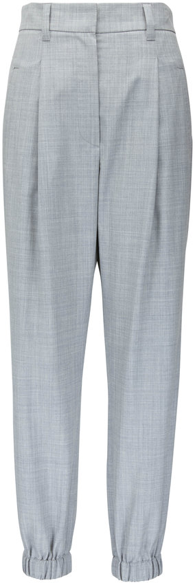 Brunello Cucinelli Pearl Tropical Wool Jogger