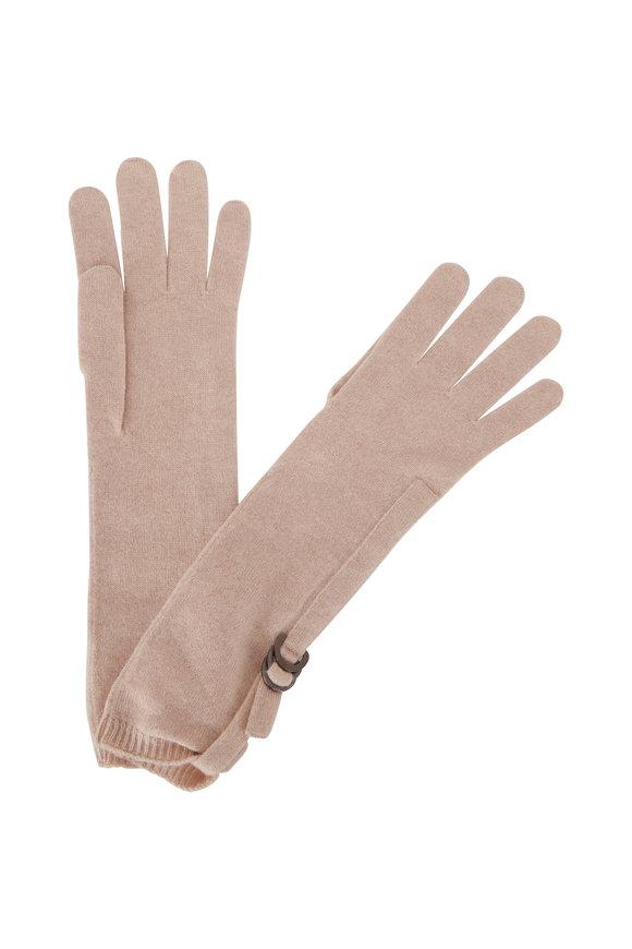 Brunello Cucinelli Almond Cashmere Gloves