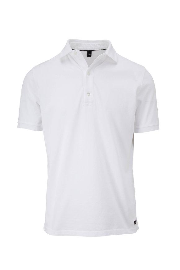 WAHTS Davis White Piqué Short Sleeve Polo