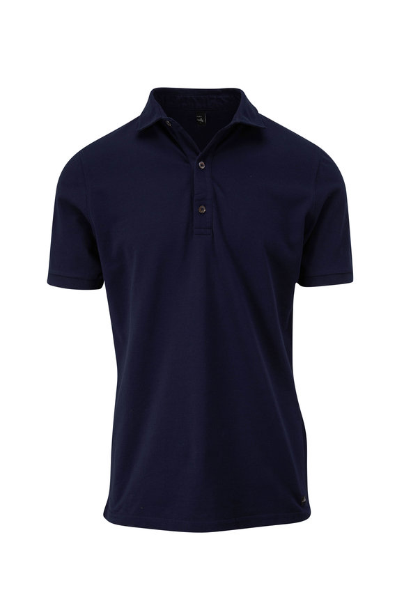 WAHTS Navy Tailored Short Sleeve Polo