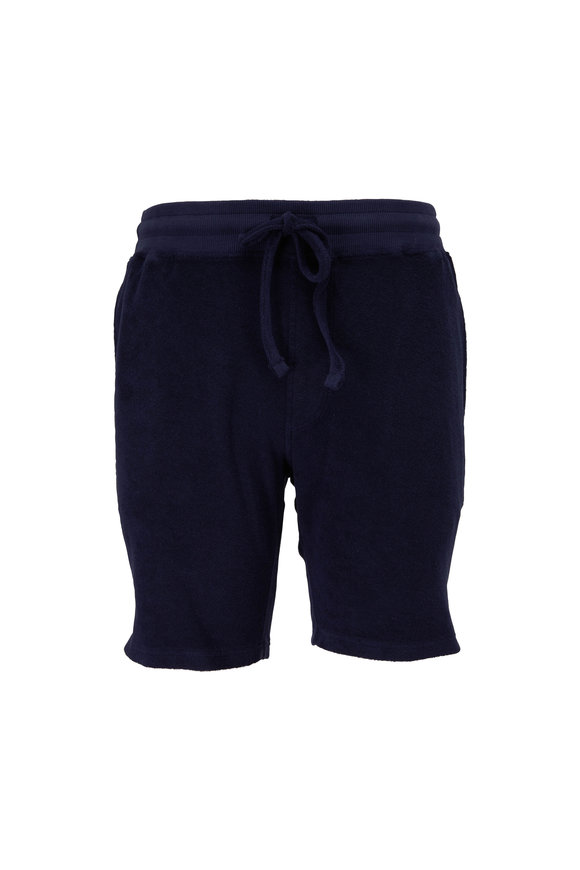WAHTS Day Navy Blue Towelling Short